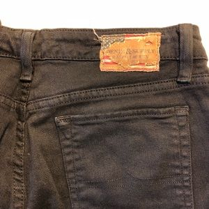 Ralph Lauren Denim & Supply black denim low rise